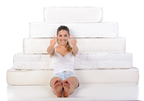 Woman and mattress - Mattress Stores in San Diego